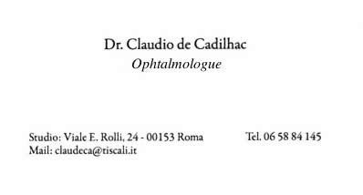 Dr De Cadilhac ophtalmologue Rome