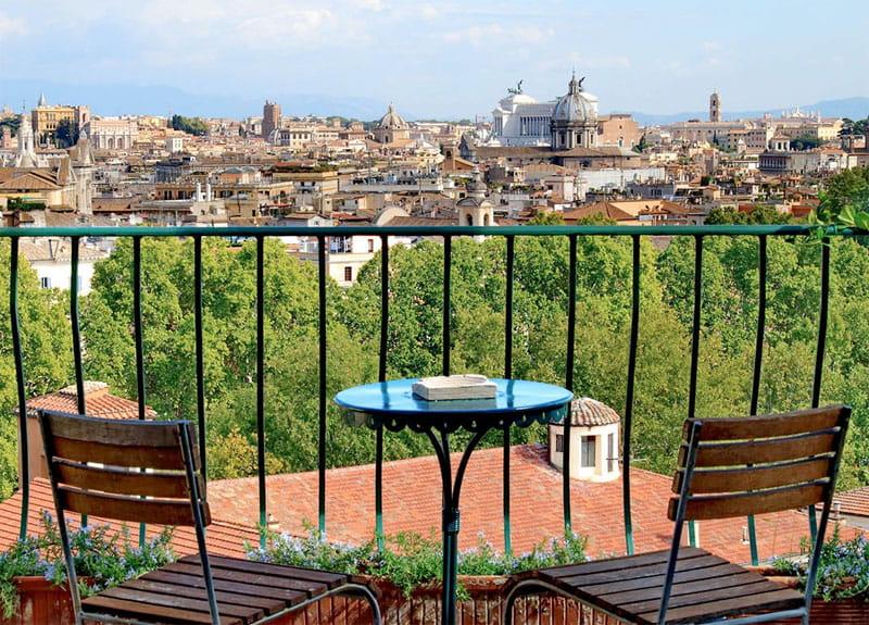 Terrace vue Rome