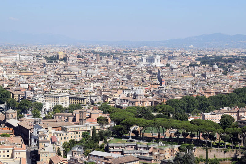 Vue de Rome topologie