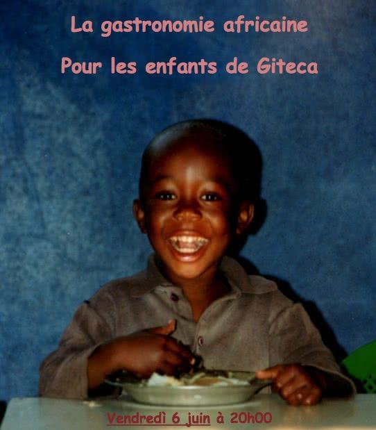 Gastronomie africaine pour les enfants de Gitega