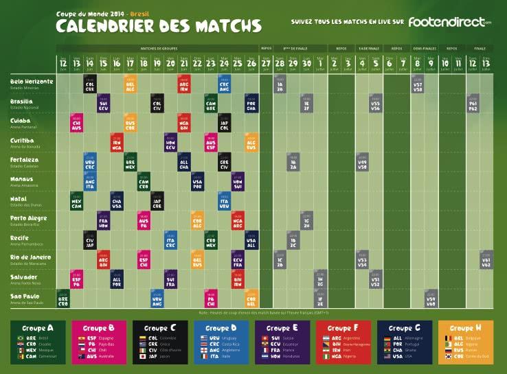 Calendrier Du Mondial.Mondial Le Calendrier Des Matchs Rome Pratique