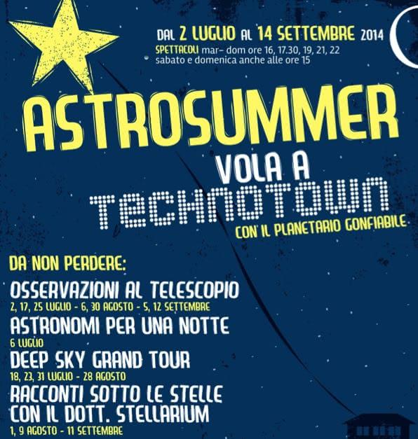 Astrosummer : le planétarium se déplace à Technotown