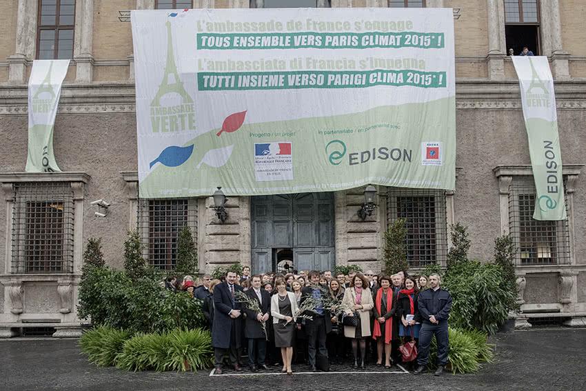 Ambassade de France : Les ambassades deviennent vertes