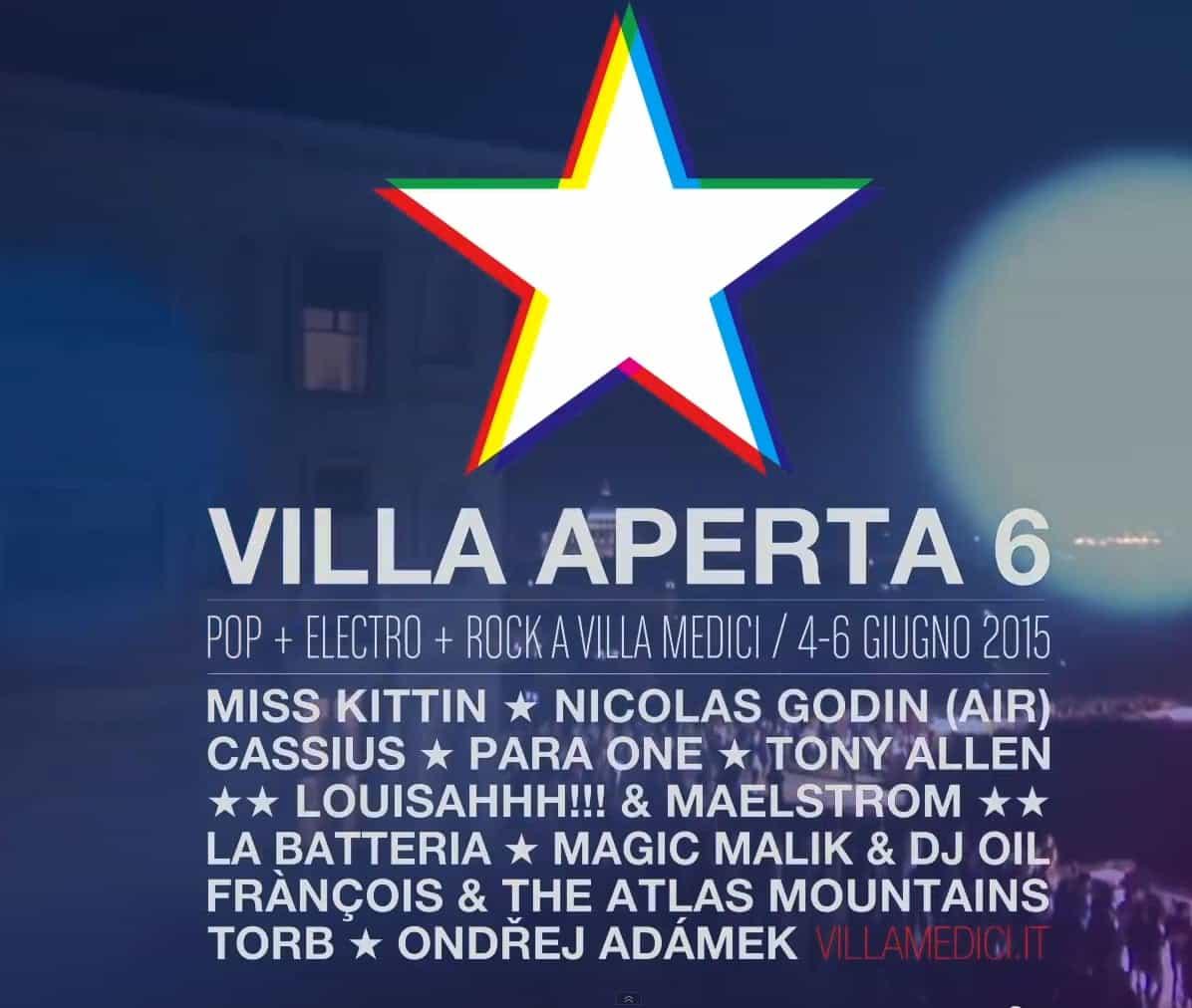 Villa Aperta : Le Festival Electro de la Villa Medici