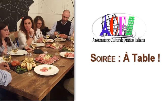 Soiree ACFI A table