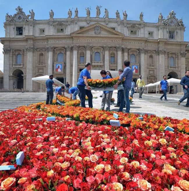 Tapis fleurs Saint Pierre
