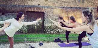 Yoga plein air