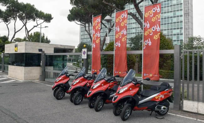 Le scooter sharing arrive à Rome