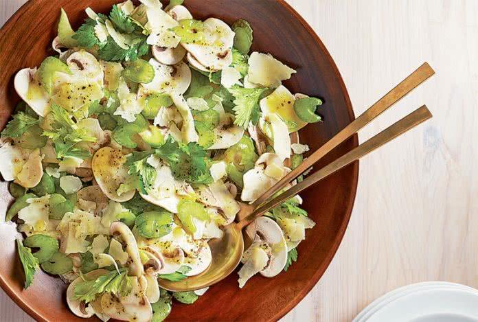 Salade champignons celeri parmesan