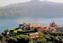 Vue aérienne de Castel Gondolfo