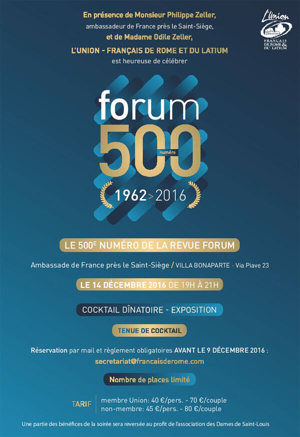 Affiche L'Union 500ème Forum