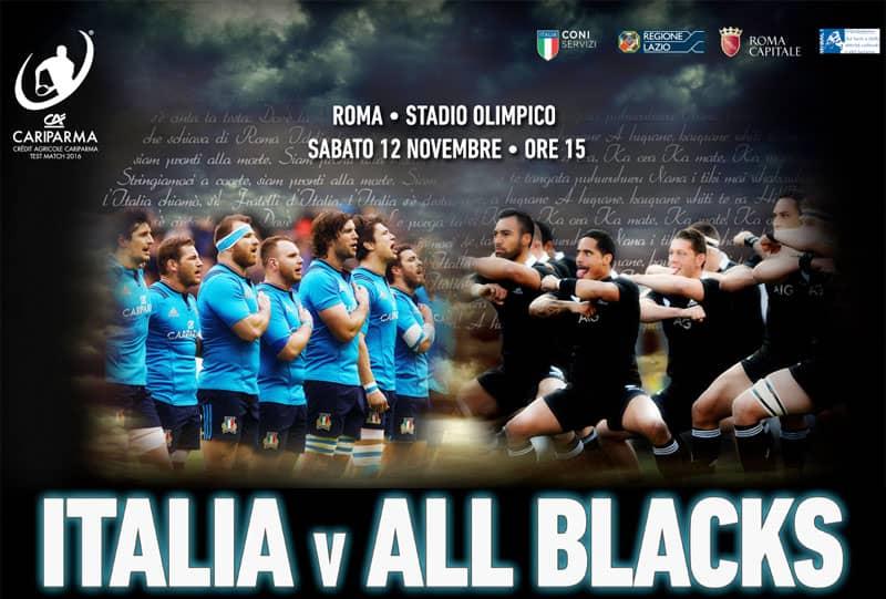 Rugby : Italie / All Blacks