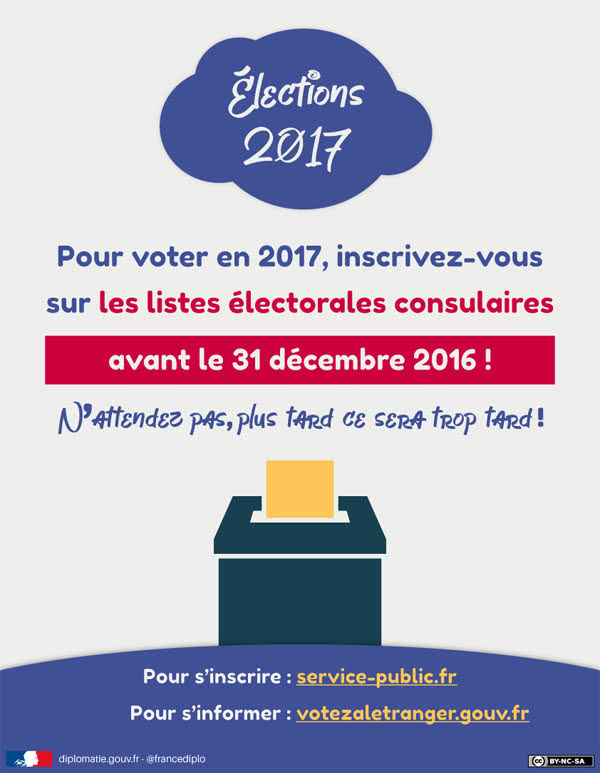 Affiche inscription listes électorales