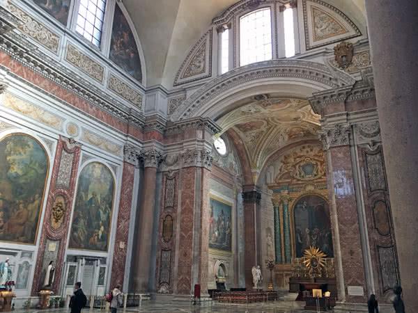 Intérieur basilique Santa Maria degli Angeli e dei Martiri