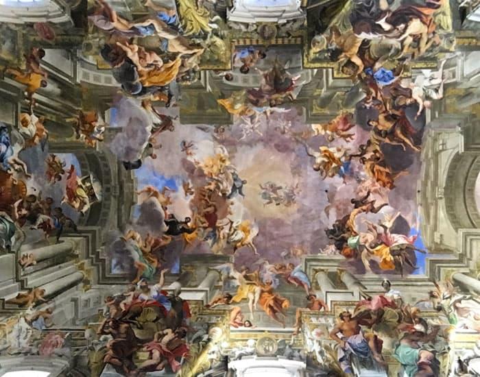 Fresque plafond Sant'Ignazio