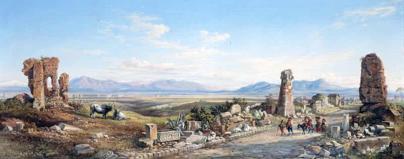 Pelerins Via Appia Antica