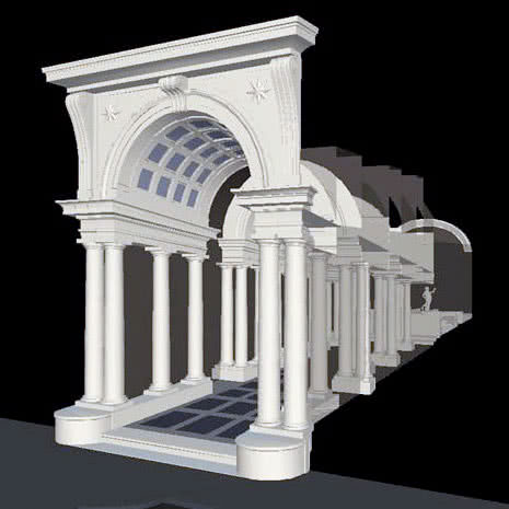 Galerie Borromini vue 3D