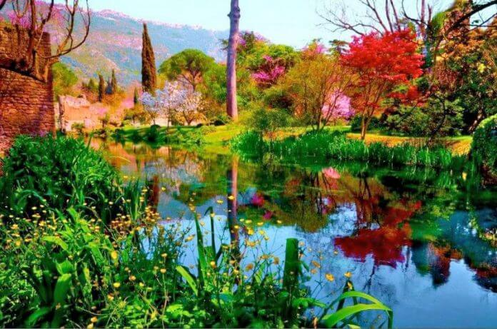 visiter le merveilleux jardin de ninfa rome pratique. Black Bedroom Furniture Sets. Home Design Ideas