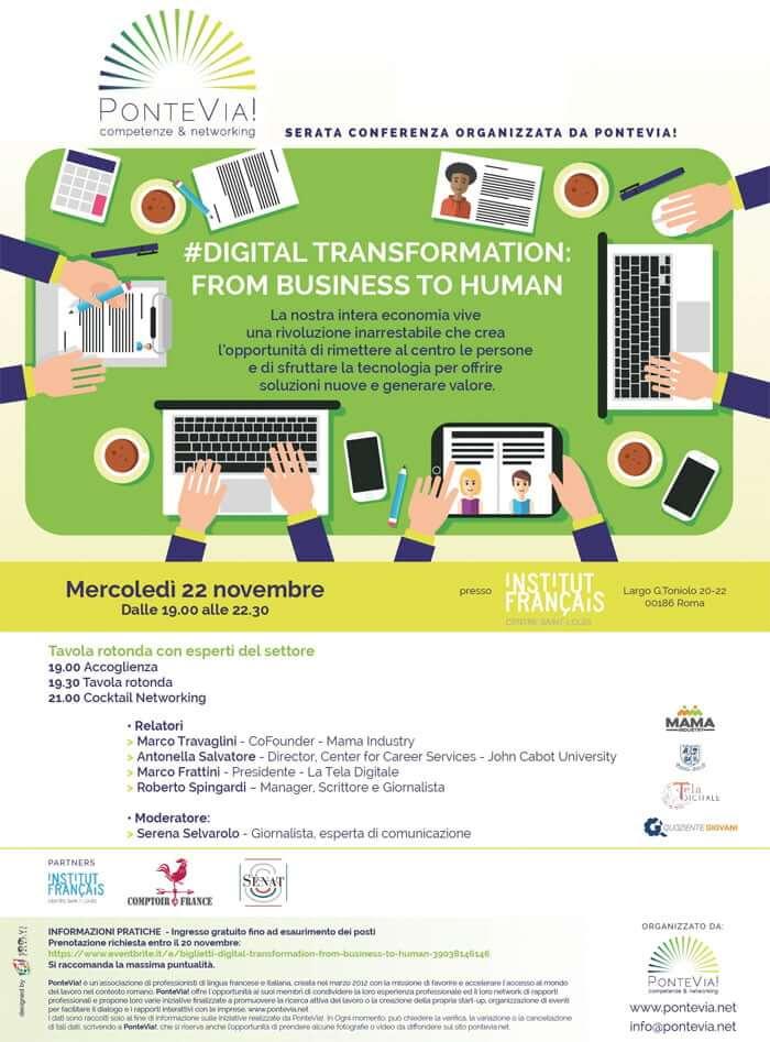 PonteVia Digital Conference Affiche