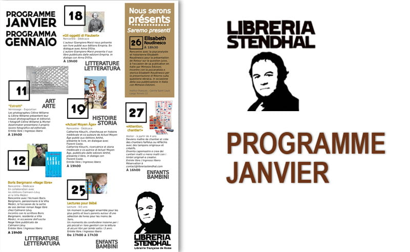 Libreria Stendhal - Programme 01 2018