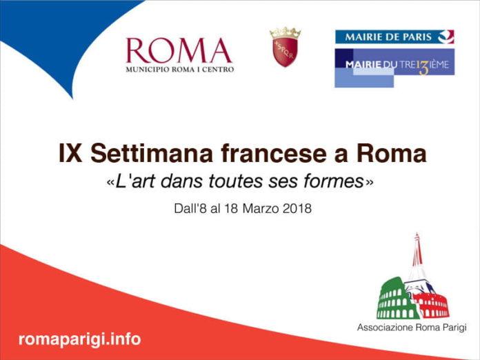 Roma-Parigi Semaine francaise rome 2018