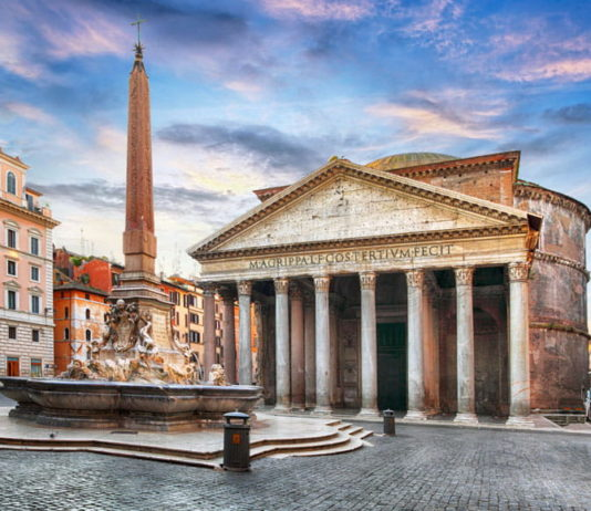 Le Pantheon et piazza rotonda