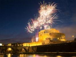 Feu artifice Castel Sant'Angelo