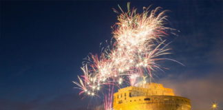 Feu artifice Castel Sant'Angelo