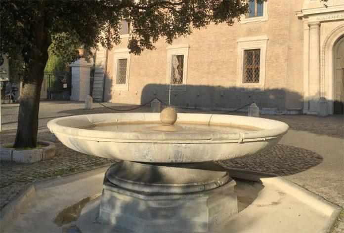 Fontaine boulet canon